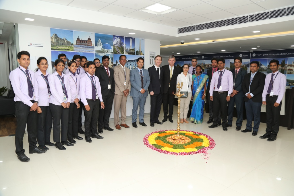 Inauguration of the VFS centre in Hyderabad - La France en