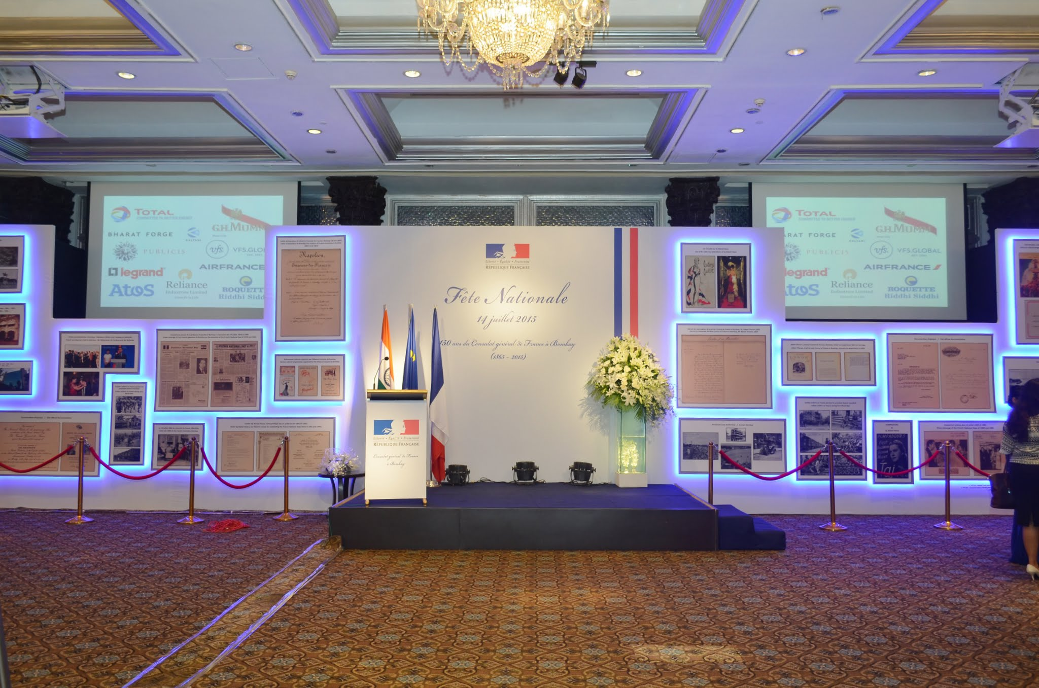 14th July 2015 And 150 Years Of The Consulate General Of France In La France En Inde