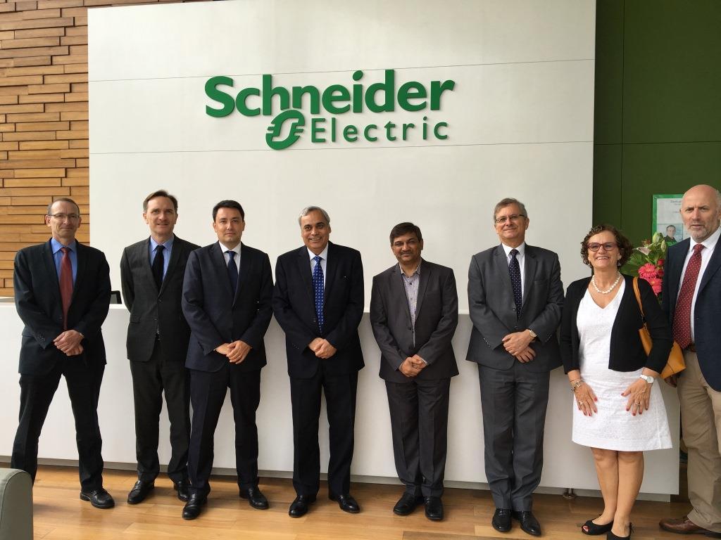 The french ambassador visits french companies established in la france en inde france - Schneider electric india offices ...