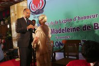 Mr François Richier, Ambassador of France to India conferred Chevalier de la Légion d'Honneur on Ms. Madeleine de Blic, founder of Volontariat
