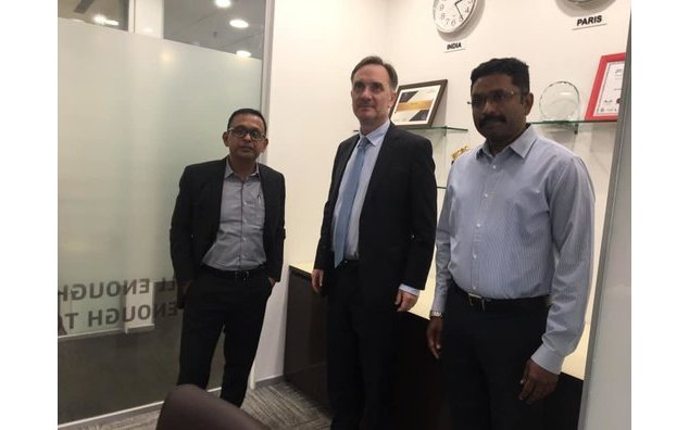 The French Consul General at Elior India's office