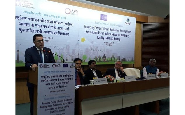 Launch of 112M€ green housing program, SUNREF Housing India