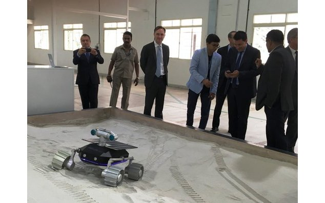 The French Ambassador at Team Indus facilities