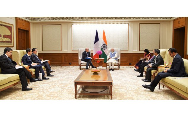 The Diplomatic Advisor to the President of the French Republic, Mr. Philippe Etienne calls on the Prime Minister,