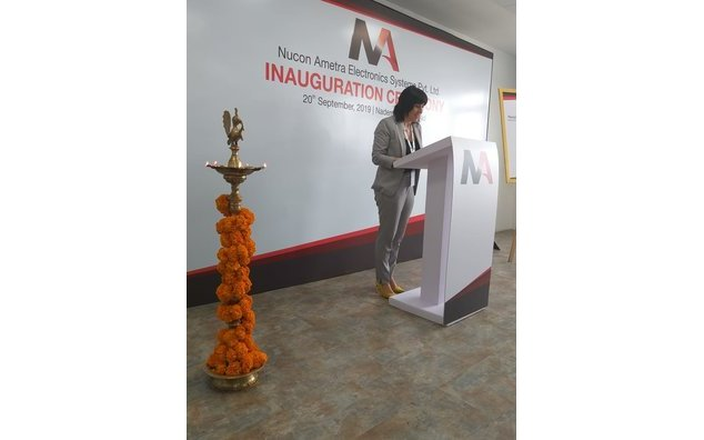 Inauguration de l'usine Nucon-Ametra à Hyderabad